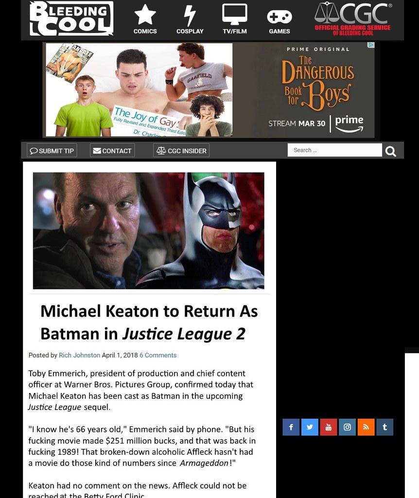 Michael Keaton returns as Batman
