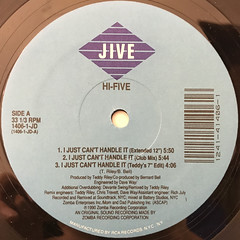 HI-FIVE:I JUST CAN'T HANDLE IT(LABEL SIDE-A)