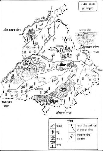 पंजाब राज्य का नक्शा