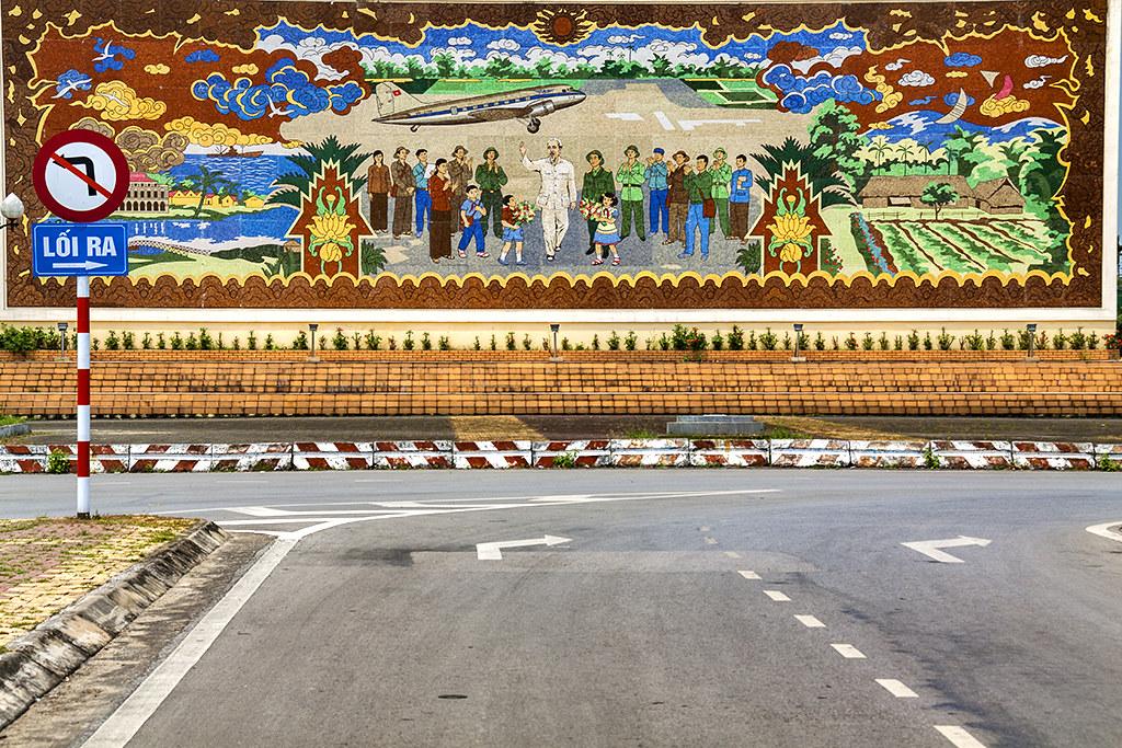 Ho Chi Minh mural--Vinh