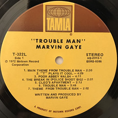 MARVIN GAYE:TROUBLE MAN(LABEL SIDE-A)