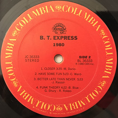 B.T. EXPRESS:1980(LABEL SIDE-B)