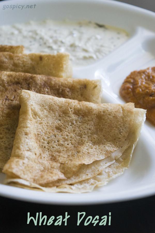 Wheat/Godhumai Dosai Recipe by GoSpicy.net/