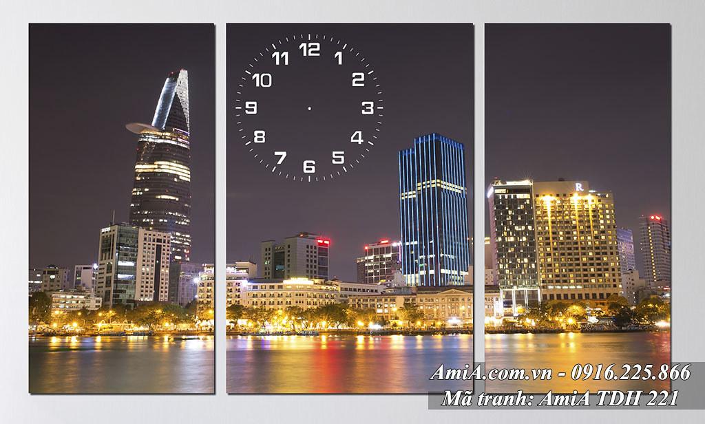 AmiA 221 - Tranh thành phố SÀi Gòn quê hương Việt Nam tươi đẹp