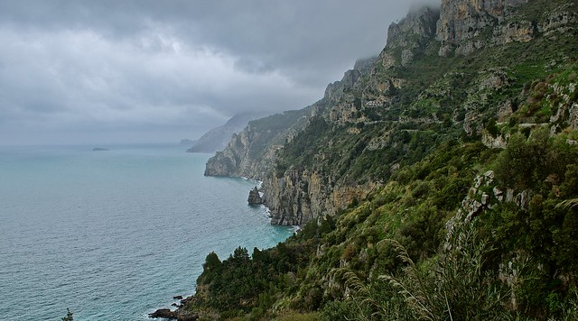 Cliffs along the Amalfi coast