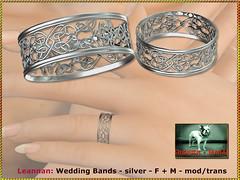 Bliensen - Leannan - Wedding Bands - silver - F+M