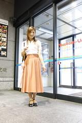 Coral long skirt_1