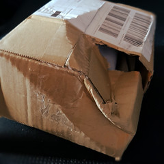 this is how you get your package sometimes :(