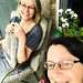 2018-6-10 Sunday porch knitting with Holly