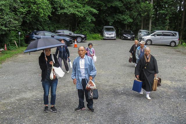 Arriving at Chusonji