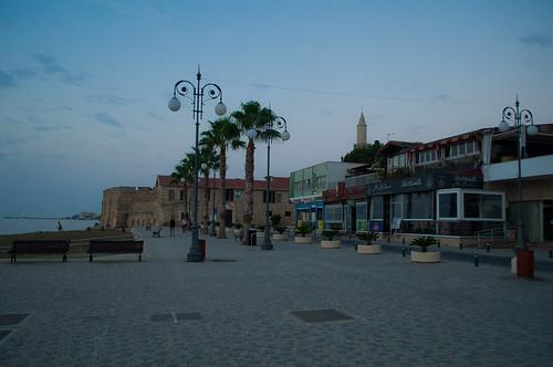 Larnaca castle at early promenade, Cyprus