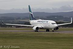 C-GUWJ Boeing 737-700 Westjet Glasgow airport EGPF 22.06-18