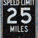 speed limit 25 miles 5,000 image mosaic