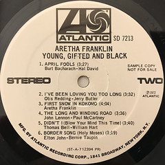 ARETHA FRANKLIN:YOUNG, GIFTED AND BLACK(LABEL SIDE-B)