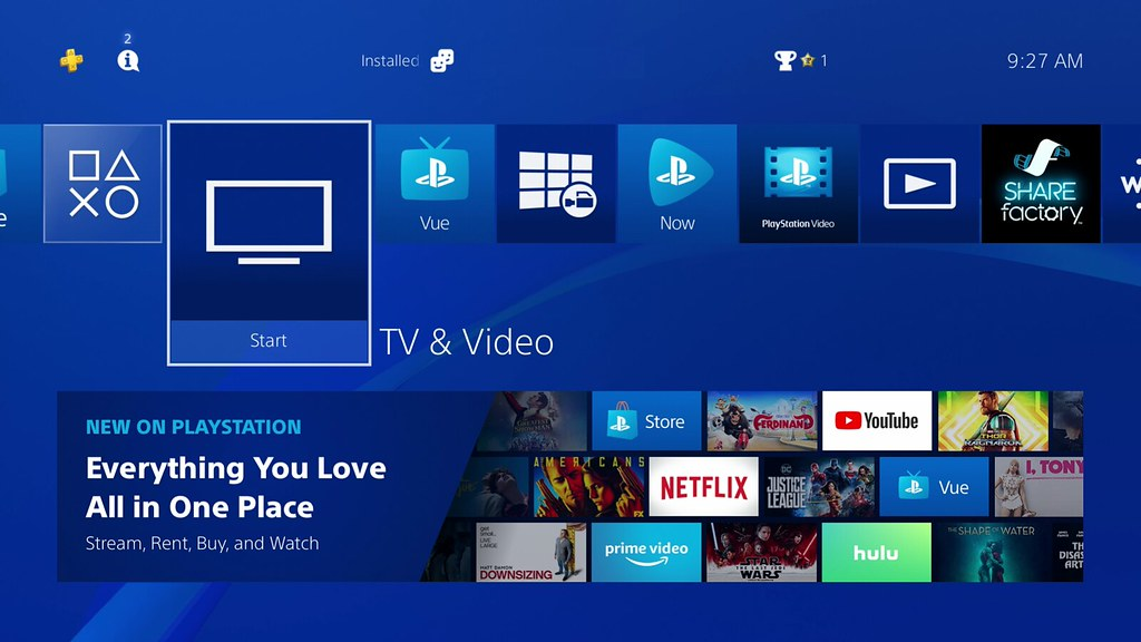 PS4 TV & Video refresh