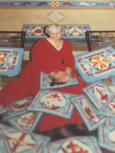 My godmother and her stitchery