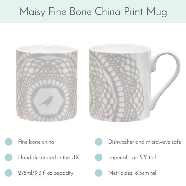 Silver Grey Maisy Mug available now!