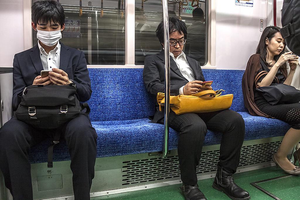 Subway riders--Tokyo