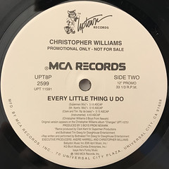 CHRISTOPHER WILLIAMS:EVERY LITTLE THING U DO(LABEL SIDE-B)