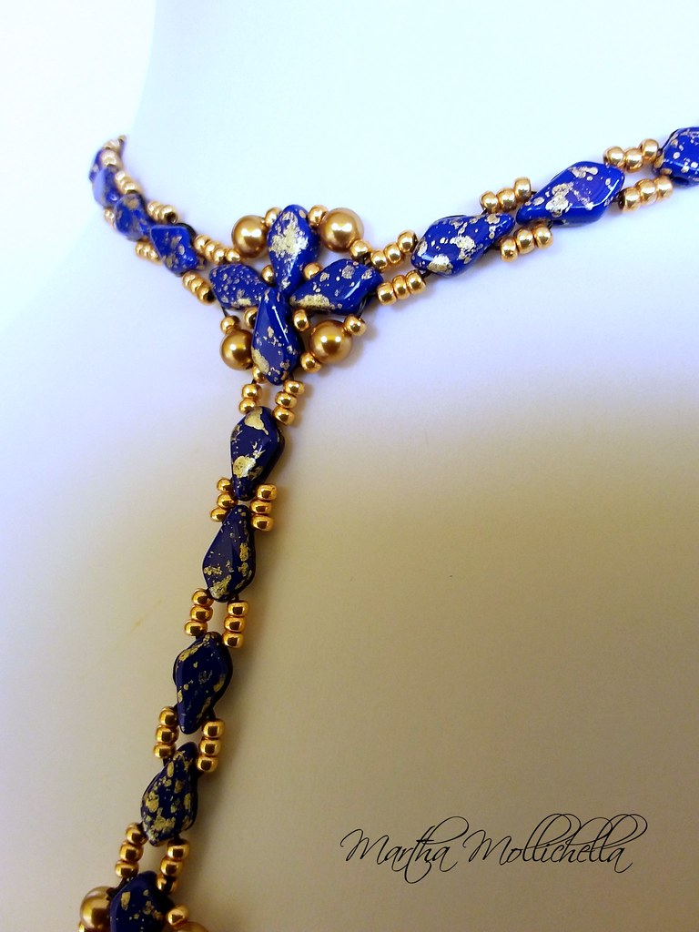Kite beads Swarovski pearls beadsmith Martha Mollichella
