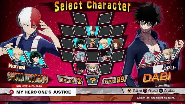 Justicia de mi héroe uno - Lista de personajes
