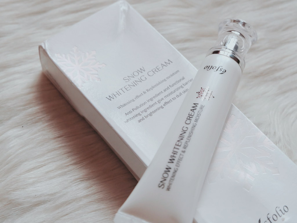 esfolio korea products review snow skin whitening cream