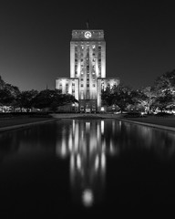 Houston City Hall_30x24 BW_2017