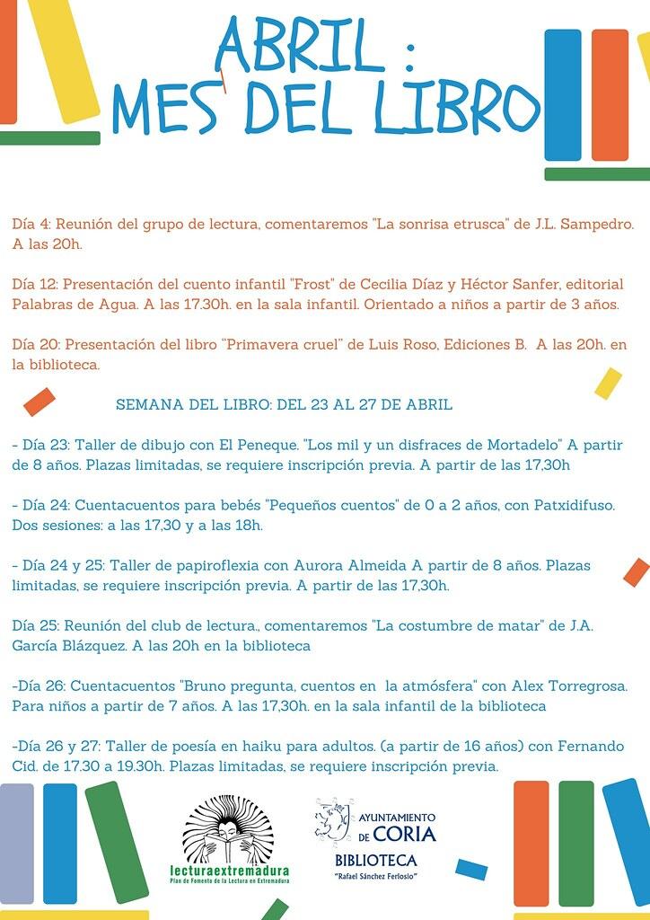 """La Biblioteca Municipal """"Rafael Sánchez Ferlosio"""" celebra actividades durante todo el mes de abril"""