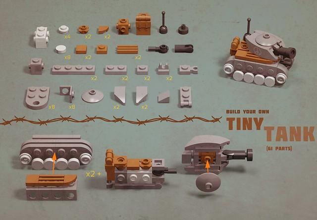 Tiny Tank LEGO MOC Tiny Instructions