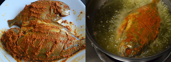 Whole Fish Fry cooking steps by GoSpicy.net