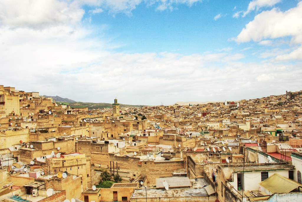 Aerial view of Fes' medina
