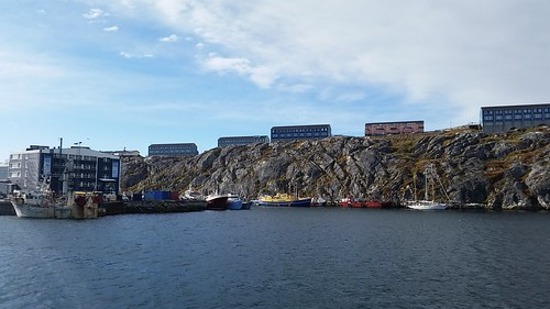 Across Nuuk harbor