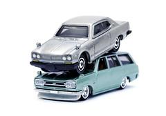 Hot Wheels Nissan Skyline C10 Wagon & Matchbox 1971 2000GTX