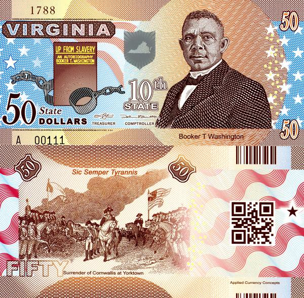 USA 50 Dollars 2014 10. štát - Virginia