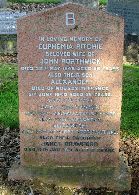 Crichton Collegiate Kirk, Grave Inscription