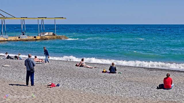 Crimean beach in April