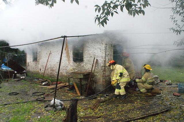Incendio de una vivienda en Empalme