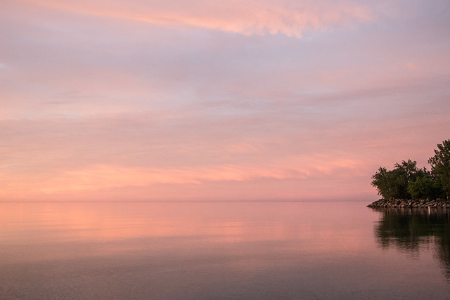 Dawn reflections on Lake Ontario