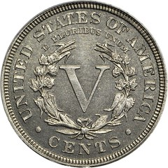 Eliasberg 1913 Liberty Nickel, reverse