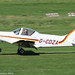 G-CDZA - 2007 build Alpi Aviation Pioneer 300, arriving on Runway 26L at Barton, part of the LAA 70th Anniversary Tour
