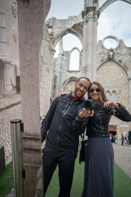 Nan and Deya at the Carmo Convent
