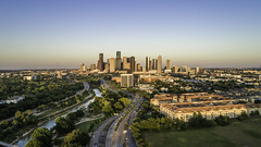 Downtown Houston Skyline, West, Buffalo Bayou No. 1