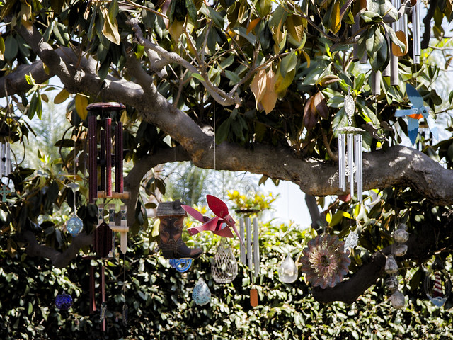 Tree yard art