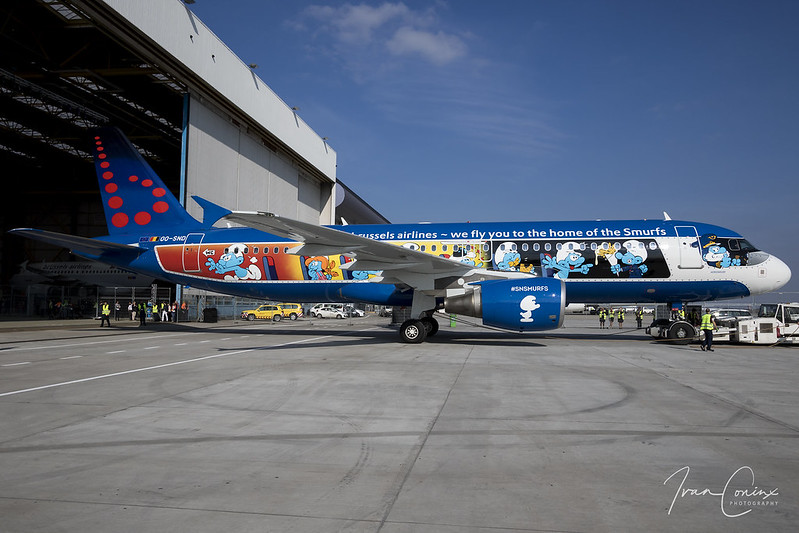Brussels Airlines #SNSmurfs Event – Brussels Airport (BRU EBBR) – 2018 03 24 – 08 – Copyright © 2018 Ivan Coninx
