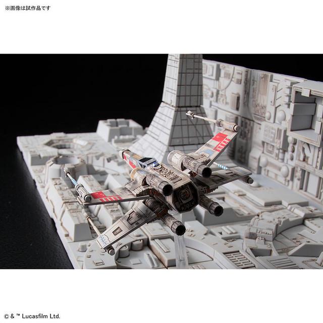 《星際大戰》「死星攻略場景」 1/144比例尺寸 組裝模型!スター・ウォーズ デス・スター攻略セット プラモデル