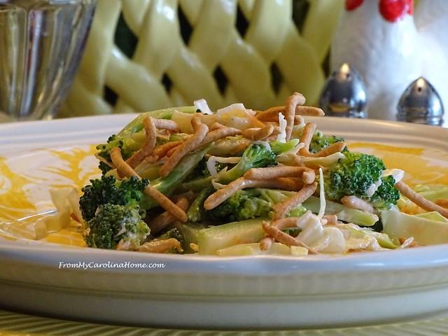 Asian Broccoli Cabbage Salad at From My Carolina Home