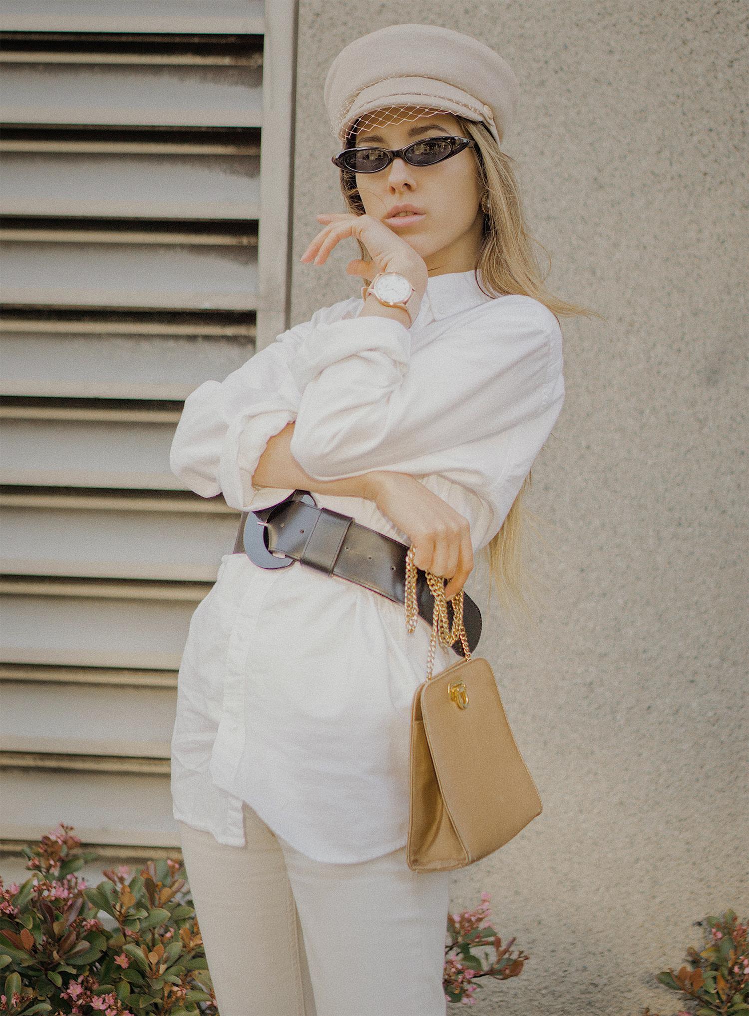 white_jeans_white_oversized_belted_man_cotton_shirt_vintage_bag_kitten_heel_cap_lenajuice_thewhiteocean_07