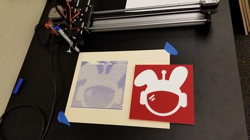 CNC->SquiggleCam->Plotter