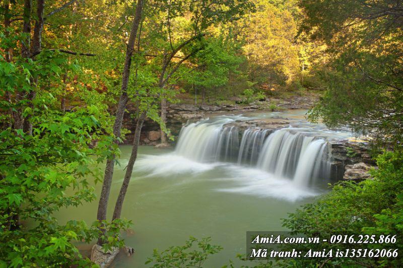 Tranh cảnh đẹp thác nước thiên nhiên