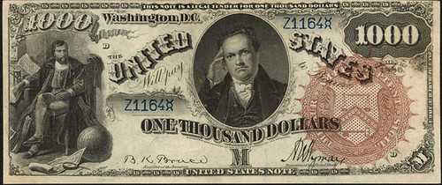1880 $1000 Legal Tender Note front